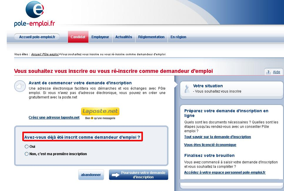 DEMANDE DINSCRIPTION POLE EMPLOI EPUB DOWNLOAD
