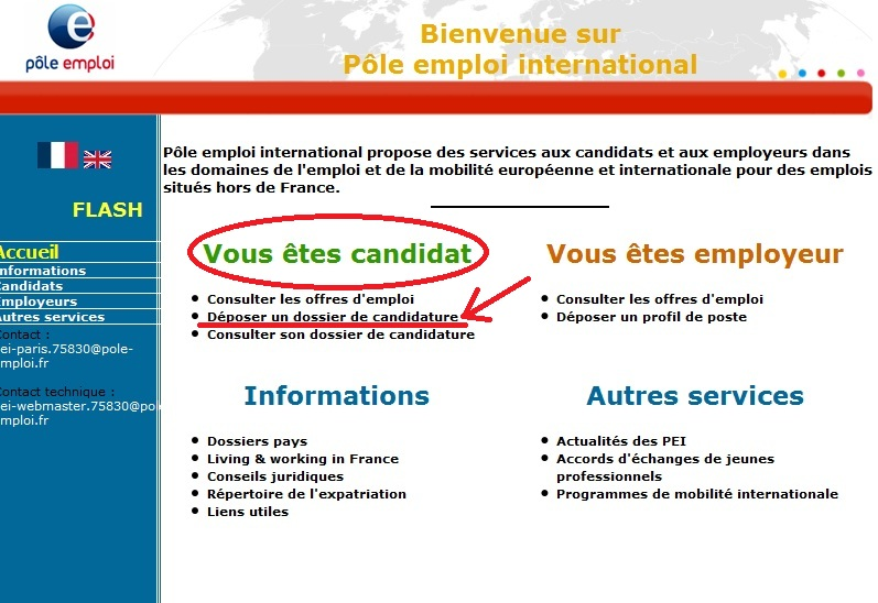 pole emploi international