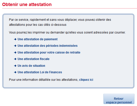 liste des 6 attestations